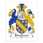 Bingham Family Crest Small Poster