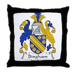 Bingham Family Crest Throw Pillow