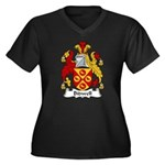 Bidwell Family Crest Women's Plus Size V-Neck Dark