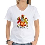 Bidwell Family Crest Women's V-Neck T-Shirt