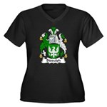Biddulph Family Crest Women's Plus Size V-Neck Dar