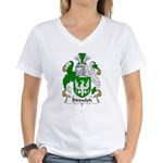Biddulph Family Crest Women's V-Neck T-Shirt