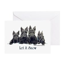 Scottish Terrier Winter Greeting Card