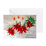 """Candles & Poinsettia"" Greeting Cards (Pk of 10)"