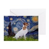 Starry Night & Jack Russell Terrier Greeting Card