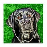 Mandy the Black Lab Tile Coaster