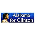 Alabama for Clinton bumper sticker