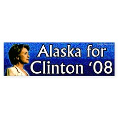 Alaska for Clinton '08 bumper sticker