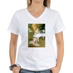 Dancer1/Wheaten T Women's V-Neck T-Shirt