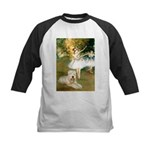 Dancer1/Wheaten T Kids Baseball Jersey