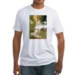 Dancer1/Wheaten T Fitted T-Shirt