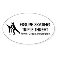 TOP Figure Skating Slogan Oval Decal
