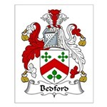 Bedford Family Crest Small Poster