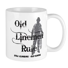 Old Linemen Rule Mug