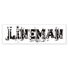 Lineman Bumper Bumper Sticker