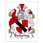 Beckering Family Crest  Small Poster