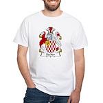 Becher Family Crest White T-Shirt