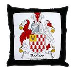 Becher Family Crest Throw Pillow
