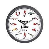 Forest Lake Clocks Wall Clock