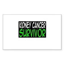 'Kidney Cancer Survivor' Rectangle Decal