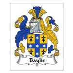 Baylis Family Crest  Small Poster