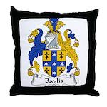 Baylis Family Crest  Throw Pillow