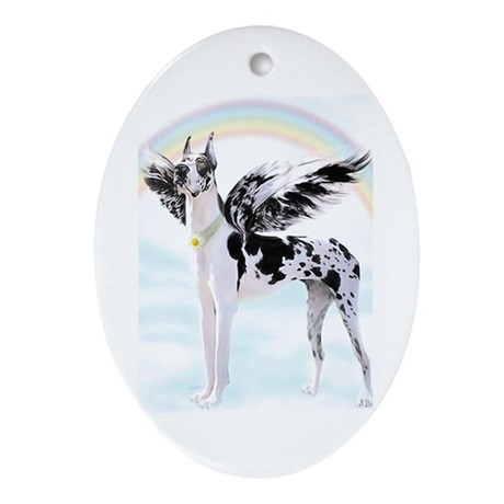 Great Dane Harle Angel Oval Ornament
