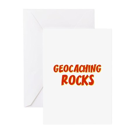 Geocaching Rocks Greeting Cards (Pk of 10)