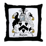 Baron Family Crest  Throw Pillow
