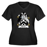 Baron Family Crest  Women's Plus Size V-Neck Dark