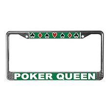 Cute Poker queen License Plate Frame