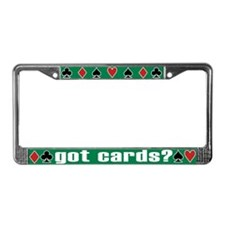 Unique Suited License Plate Frame