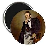 Lincoln's German Shepherd Magnet