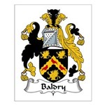 Baldry Family Crest Small Poster