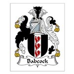 Babcock Family Crest  Small Poster