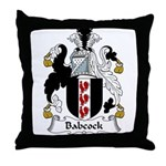 Babcock Family Crest  Throw Pillow