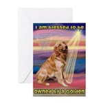 Blessed Golden Greeting Card