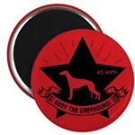Obey the Greyhound! Star logo Magnet