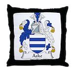 Aske Family Crest Throw Pillow