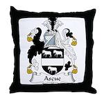 Ascue Family Crest Throw Pillow