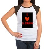 Women's Cap Sleeve I love to swallow tshirt