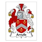 Arnold Family Crest Small Poster