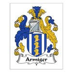 Armiger Family Crest  Small Poster