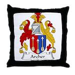Archer Family Crest Throw Pillow
