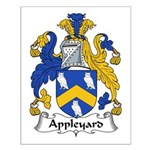 Appleyard Family Crest  Small Poster