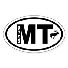 Montana Elk Oval Decal