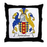 Antrobus Family Crest Throw Pillow