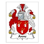 Anne Family Crest  Small Poster