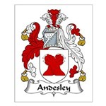 Andesley Family Crest Small Poster