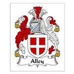 Alley Family Crest Small Poster